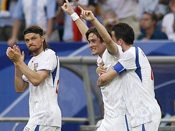 USA - Česko: Rosický slaví gól