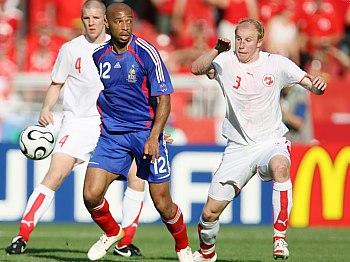 Francie - Švýcarsko, Thierry Henry