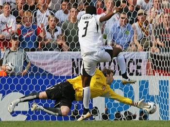 Česko - Ghana: Gyan dává gól