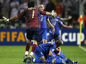 Radost fotbalistů Itálie
