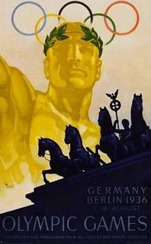 Dobový olympijský plakát