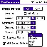 Preference Audio Driveru