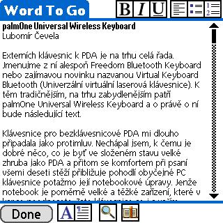 palmOne Universal Wireless Keyboard