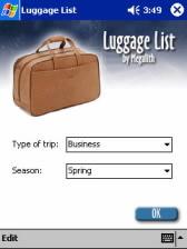 Luggage List