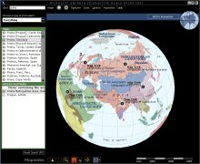 Encarta Interactive World Atlas - jedna z map