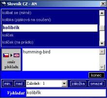 Angličtina - slovník