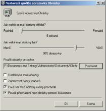 Windows XP - nastavení spořiče