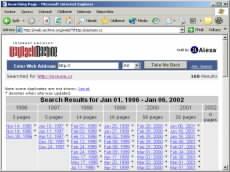Archive.org - od kdy je server zaznamenáván