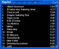 Oknö playlistu přehrávače iRadio