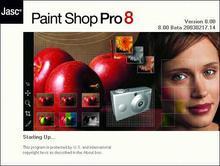 Paint Shop Pro 8 Beta 1