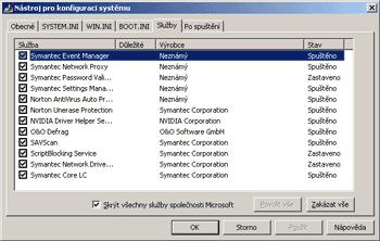 Co vše se spouští společně s Windows?