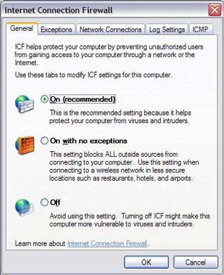 Firewall v SP2 pro Windows XP