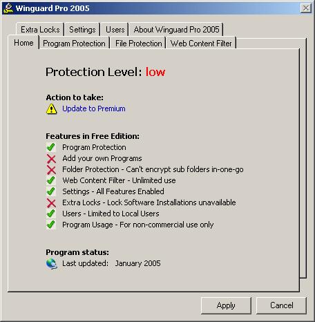 Winguard Pro 2005