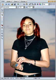 Úprava portrétové fotografie