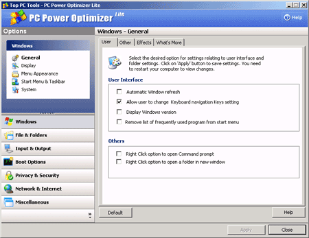 PC Power Optimizer Lite