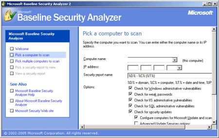 Microsoft Baseline Security Analyzer 2.0