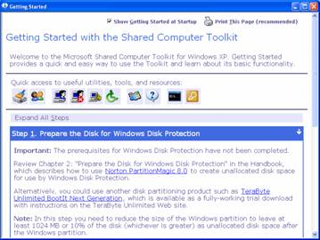 Microsoft Shared Computer Toolkit for Windows XP