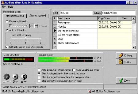 Audiograbber Line-In Sampling