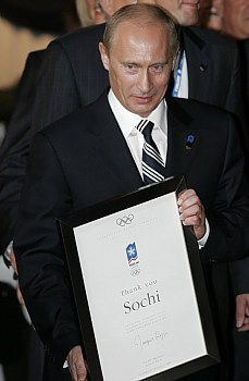 Vladimir Putin podporuje kandidaturu Soči