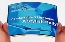 Ukázka zobrazení na ohebném LCD