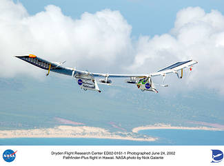 Pathfinder-Plus nad Havají © NASA