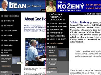 Internetové stránky Viktora Koženého