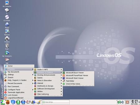 Lindows 2.0 desktop