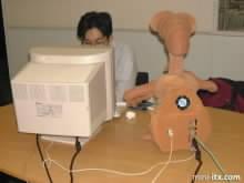Zadní strana PC v mimozemšťanovy E.T.
