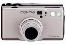 Stříbrné provedení digitálního fotoparátu CONTAX Tvs Digital