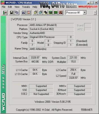 Athlon XP 2100+ na 3.33 GHz