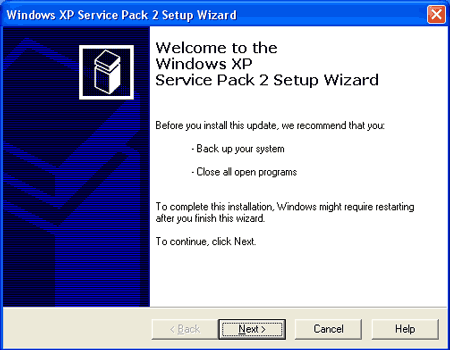 Screenshot Windows XP SP2