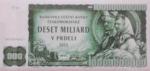 Arbitrážní 10 miliardová bankovka