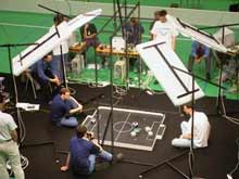Zápas v robotickém fotbale