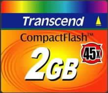 CompactFlash Transced karta s 45x rychlostí čtení