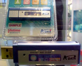 USB flashs LCD