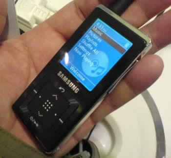 MP3/WMA přehrávač Samsung YP Z5