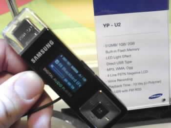 MP3/WMA/Ogg přehrávač Samsung YP-U2