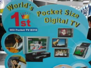 Jedna z prvních přenosných televizí s DBV-T