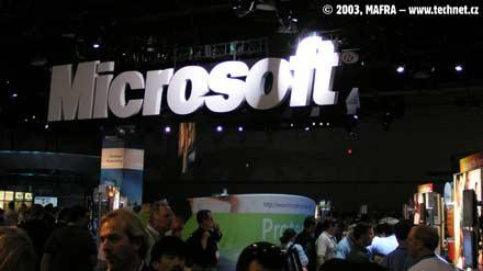 Microsoft patří  na Comdexu k největším vystavovatelům