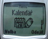 Nokia 6210 - displej - kalendář