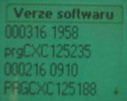 Informace o verzi firmwaru v telefonu (R320s)