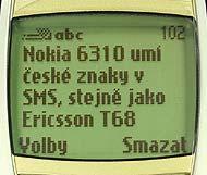 Nokia 6310-displej