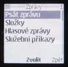 Nokia 9500 menu vnějšího displeje