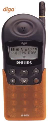 Philips Diga se všemi znaky na displeji