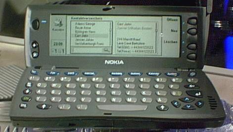 Nokia 9110 v detailu.