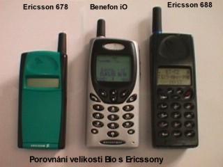Porovnání velikosti s Ericssony