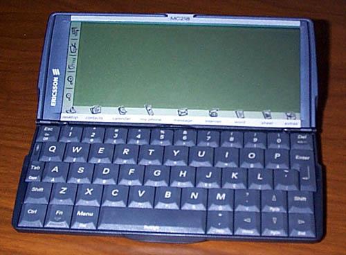 Toto je celkový pohledek na MC 218 - celý Psion 5, že...