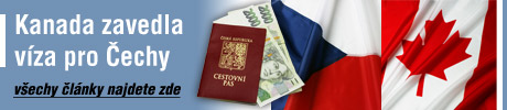 Kanada zavedla víza pro občany ČR - všchny články